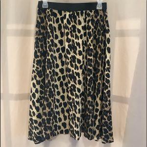 Another Story leopard print elastic waist skirt